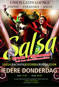 Vrijdansen op donderdag a/d Biltstraat in Utrecht - Salsa, bachata, kizomba, rueda, zouk...